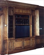 Image of Custom Built-In TV Cabinet & Paneled Walls