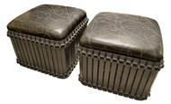 Image of Pair of Rust Belt IV Ottoman