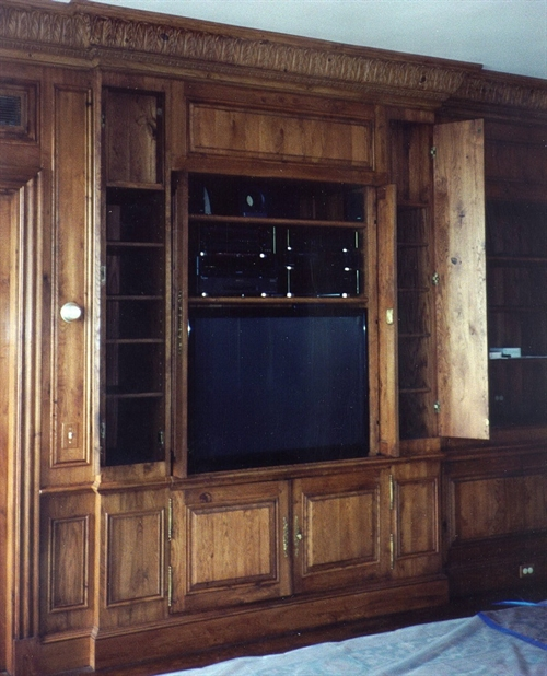 Product Details Custom Built In TV Cabinet Amp Paneled Walls