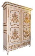 Image of Painted French Armoire