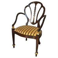 Image of Cache English High Armchair with Gold Details