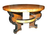 Image of Round Art Deco Side Table