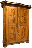 Image of Fruitwood Armoire with Inlay