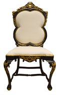 Image of Venetian Black and Gold Hall Chair