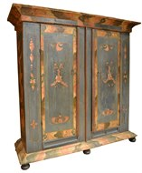 Image of Painted Dutch Cabinet