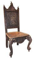 Image of Set of 6 Carved Elephant Sidechairs