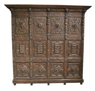 Image of Early Flemish Oak Cabinet