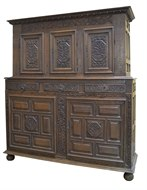Image of French Carved Oak Cabinet