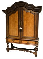 Image of Dutch Colonial Cabinet on Stand