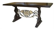Image of Custom Iron & Wood Trestle Table