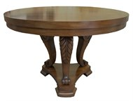 Image of Mahogany Center Table With Carved Legs