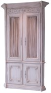 Image of Painted  Filigree Cabinet