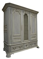 Image of Custom Painted Linen Cabinet