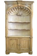 Image of Barrel Back Pine Corner Cabinet