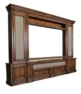 Image of Maple Television Cabinet with Grill