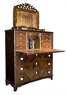 Image of Antique Grain Painted Secretaire