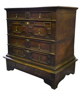 Image of Early Oak Chest on Stand