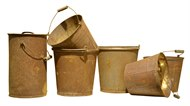 Image of Set of 7 Rusty Buckets