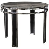 Image of 70's Black and Chrome Table