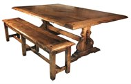 Image of Savoie II Dining Table and Bench