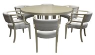Image of Custom Bleached Contemporary Table and Deco Chairs