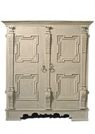Image of Cement Encrusted Swiss Pine Cabinet