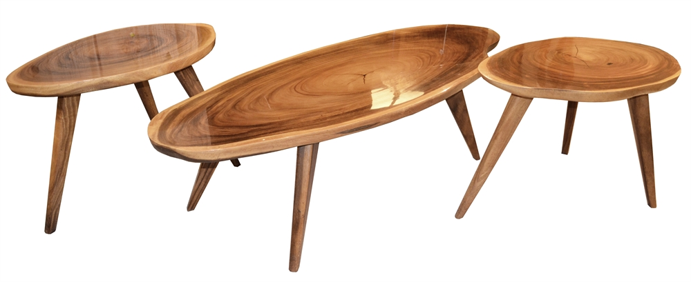 product details: mid-century coffee and side tables