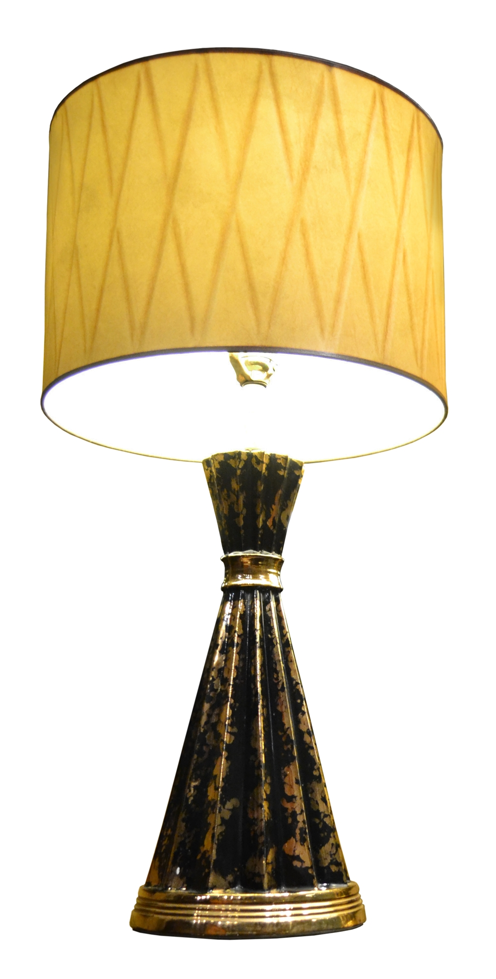 MB/3060   Pair Of Black U0026 Gold Lamps ...
